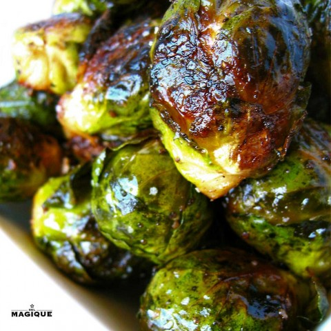 Brussels Sprouts roasted with Sel Magique