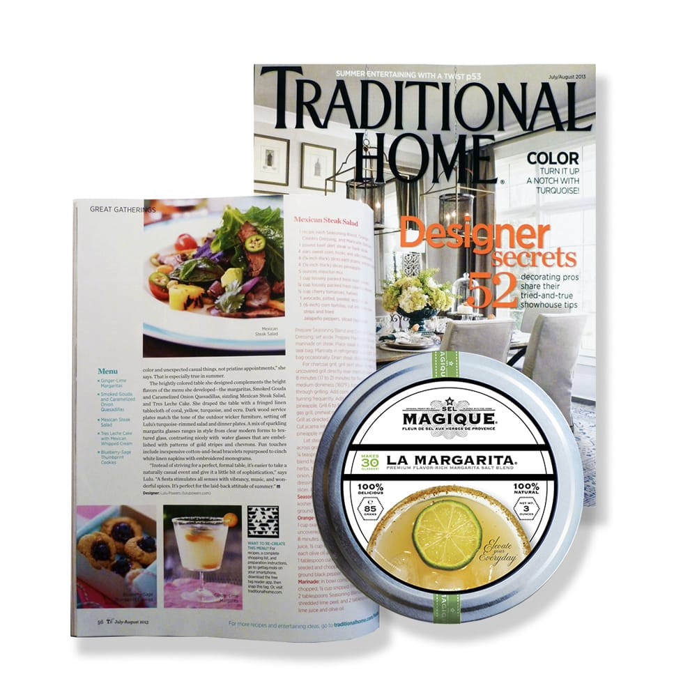 Traditional Home Magazine Article with Magique Margarita Salt Blend