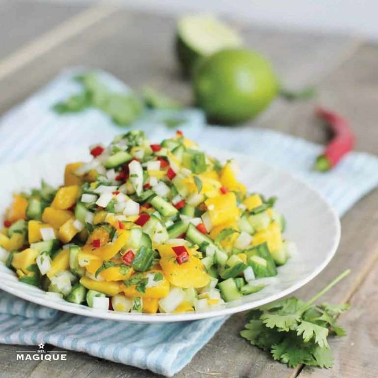 Cucumber Mango Salsa