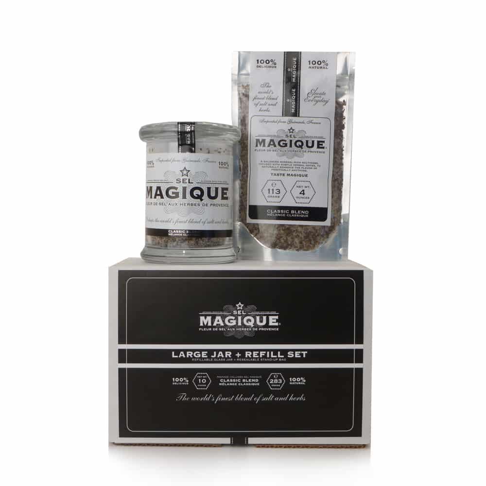 Gourmet Salt Blend - Large Jar+Refill Set