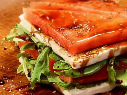 Watermelon Feta Terrine Salad