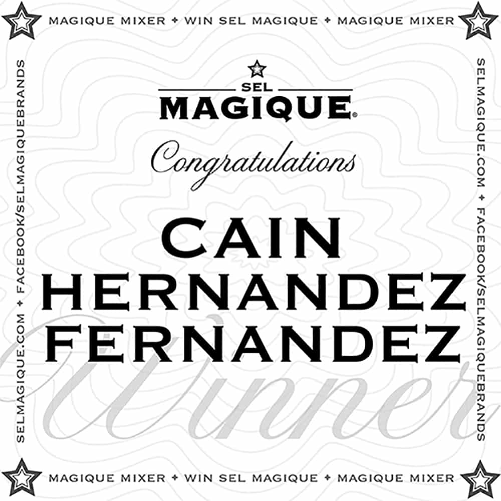 Magique Mixer Winner Cain Hernandez Fernandez