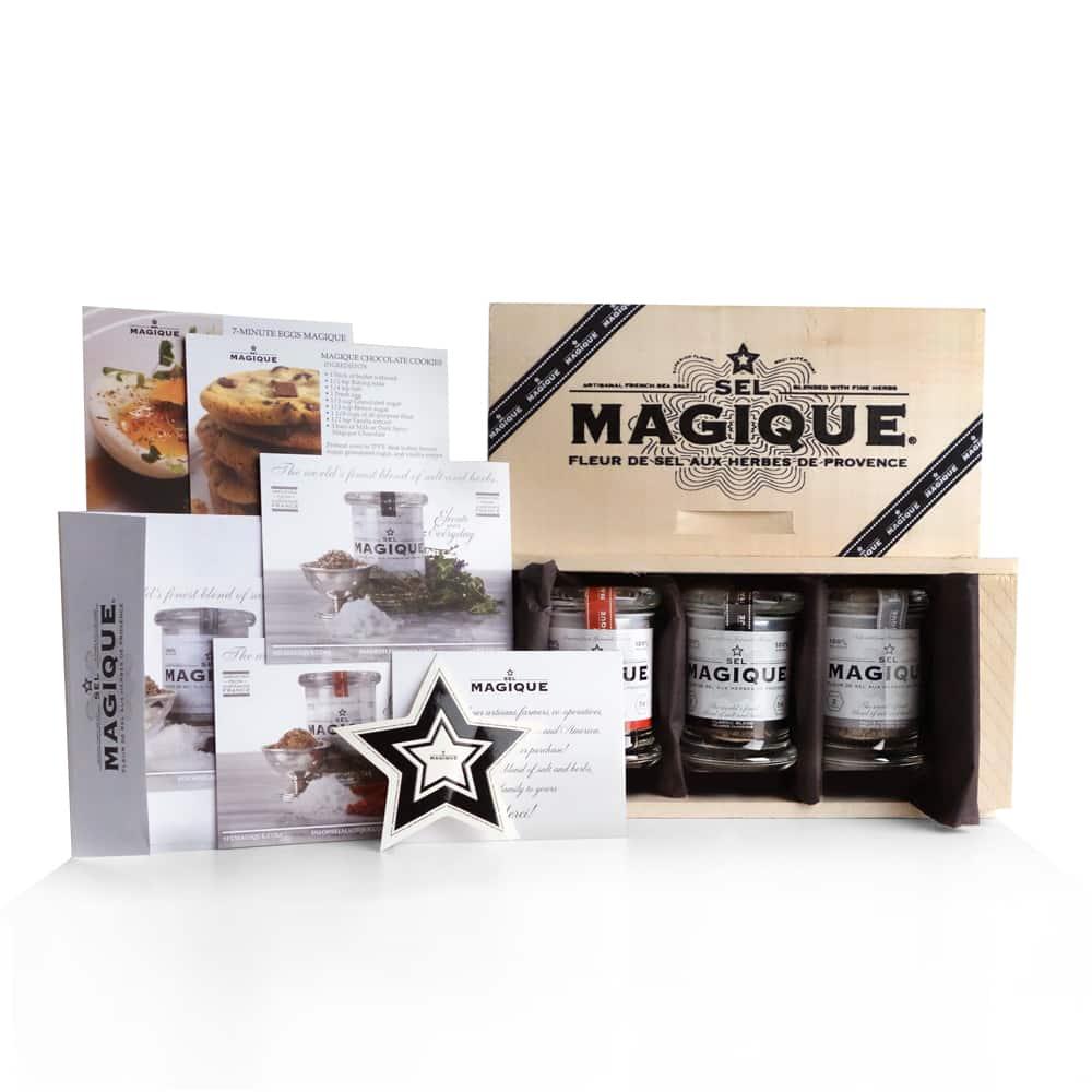 Sel Magique - Finest Salt Blends - Spicy blend, Gourmet blend, Salt & Pepper blend