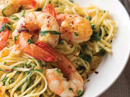 Linguine with Shrimp, Lemon & Parsley