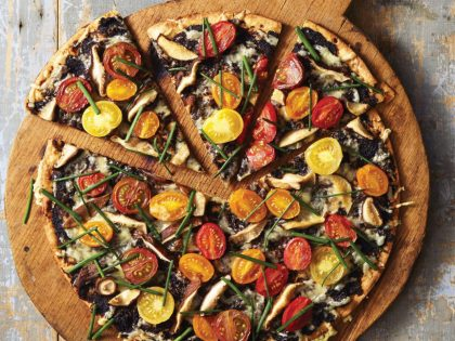 Roasted Tomato & Chive Pizza