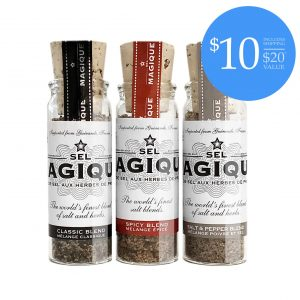 Three Vial Set fleur de sel blend sampler