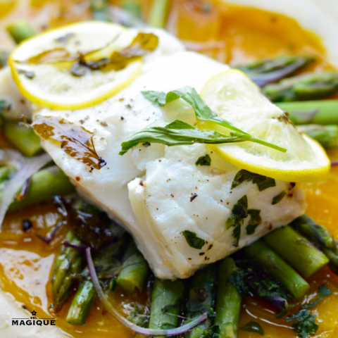 PARCHMENT BAKED COD HERO