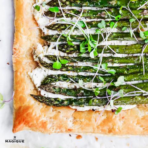 asparagus tart hero